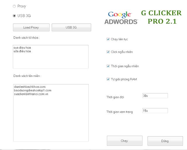Phần mềm click tặc được rao bán 10tr vnd click tặc adwords Cơ chế chặn click tặc adwords phan mem click tac